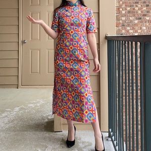 Handmade midi qipao/cheongsam dress XS